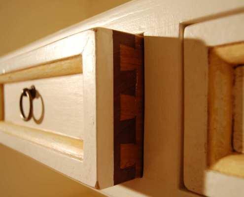Mobile libreria su misura in legno bianco - Falegnameria Ratoci