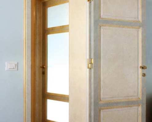 Porte legno su misura stile antico - Falegnameria Ratoci